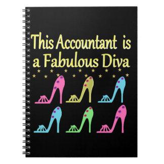 スタイリッシュな会計士の靴の恋人のデザイン ノートブック