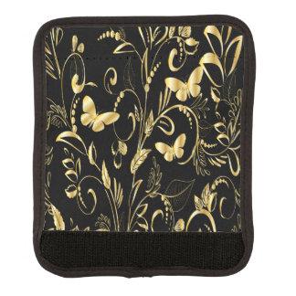 スタイリッシュな印刷された模造のな金ゴールドの蝶 ラゲッジ ハンドルラップ