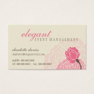 スタイリッシュな名刺:: エレガントなローズピンクのクリーム 名刺