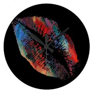 スタイリッシュな唇#4 ラージ壁時計