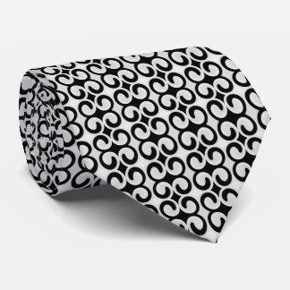 スタイリッシュな灰色および黒いパターン ネクタイ