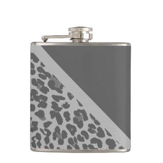 スタイリッシュな灰色のヒョウのプリントパターンフラスコ フラスク