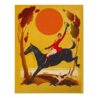 スタイリッシュな狩りの乗馬者のパーティの招待状 カード