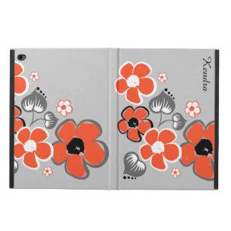 スタイリッシュな珊瑚および灰色の花のiPadは2箱を乾燥します