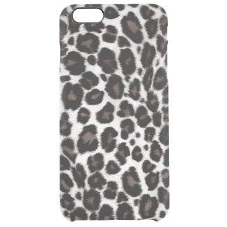 スタイリッシュな白黒のヒョウのプリントパターンクラシック クリア iPhone 6 PLUSケース