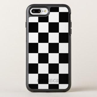 スタイリッシュな白黒チェック模様のパターン オッターボックスシンメトリーiPhone 8 PLUS/7 PLUSケース
