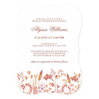 スタイリッシュな秋のBotanicalsのブライダルシャワーの招待状 カード
