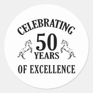 スタイリッシュな第50誕生日プレゼントのアイディア ラウンドシール