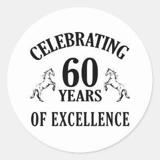 スタイリッシュな第60誕生日プレゼントのアイディア ラウンドシール