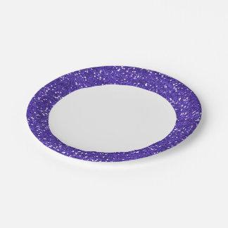 スタイリッシュな紫色のグリッター ペーパープレート