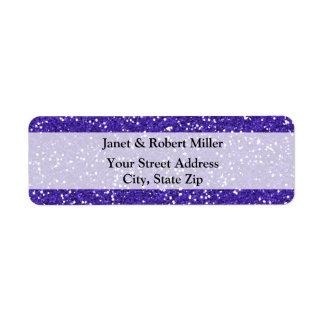 スタイリッシュな紫色のグリッター ラベル