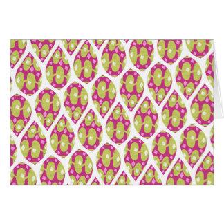 スタイリッシュな緑およびピンクの涙パターンデザイン カード