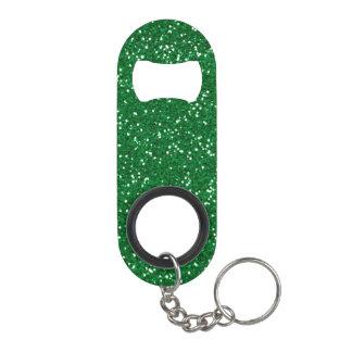 スタイリッシュな緑のグリッター キーホルダー ボトルオープナー