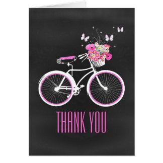 スタイリッシュな自転車はメッセージカード感謝していしています カード