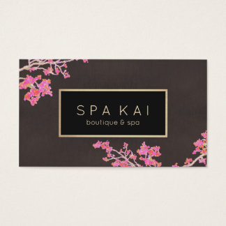 スタイリッシュな花のスパのマッサージセラピストのブティックのスパ 名刺