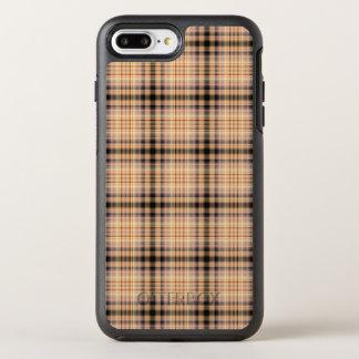 スタイリッシュな茶色のチェック模様のパターン オッターボックスシンメトリーiPhone 8 PLUS/7 PLUSケース