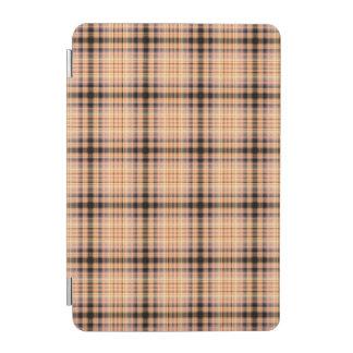 スタイリッシュな茶色のチェック模様のパターン iPad MINIカバー