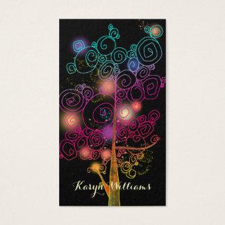 スタイリッシュな螺線形の木のマッサージのセラピーの名刺 名刺
