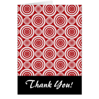 スタイリッシュな赤と白の幾何学的なパターン カード