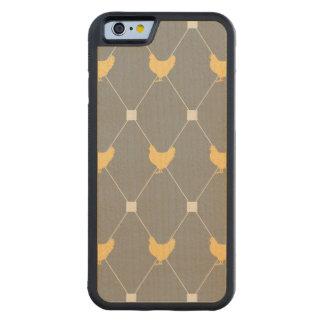 スタイリッシュな道化師の鶏パターン CarvedメープルiPhone 6バンパーケース