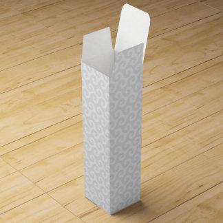スタイリッシュな銀及び白の波-及びおもしろいパターン ワインギフトボックス