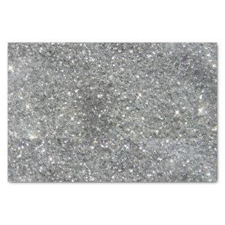 スタイリッシュな銀製のグリッターの輝きの写真 薄葉紙