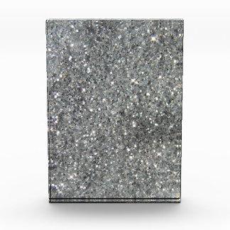 スタイリッシュな銀製のグリッターの輝きの写真 表彰盾