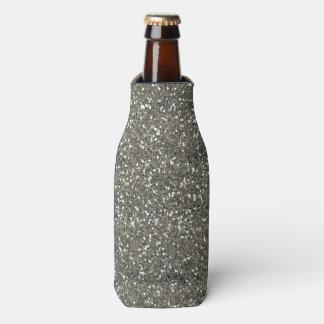 スタイリッシュな銀製のグリッター ボトルクーラー