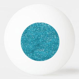 スタイリッシュな青緑のグリッター 卓球ボール