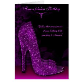 スタイリッシュな魅力の靴の誕生日の挨拶状 カード
