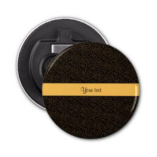 スタイリッシュな黒い及びオレンジグリッターの小型星 栓抜き