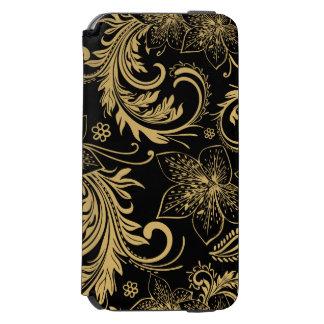 スタイリッシュな黒および金ゴールドの財布 INCIPIO WATSON™ iPhone 5 財布型ケース