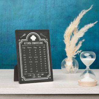 スタイリッシュな黒板の台所換算表 フォトプラーク
