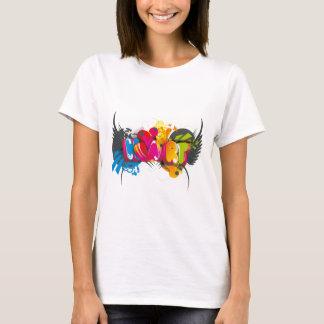 スタイリッシュな3Dタイポグラフィ Tシャツ
