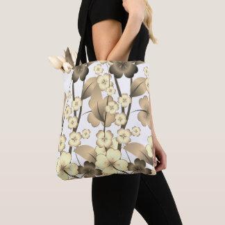 スタイリッシュな、開花したデザインのバッグ トートバッグ