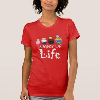 スタイリッシュなMatryoshkaの漫画の女性の生命老化すること Tシャツ
