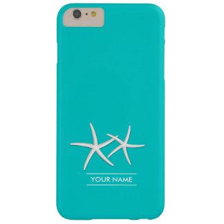 スタイリッシュなTiffanyの青のヒトデ Barely There iPhone 6 Plus ケース
