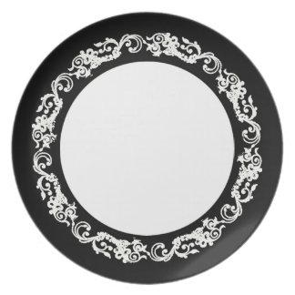 スタイリッシュヴィンテージ(c) Blk-White-Everyday_Plates プレート