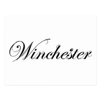 スタイルのウィンチェスターのクラシックなロゴ ポストカード