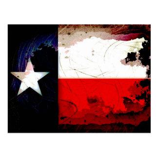 スタイルのテキサス州のグランジな旗 ポストカード