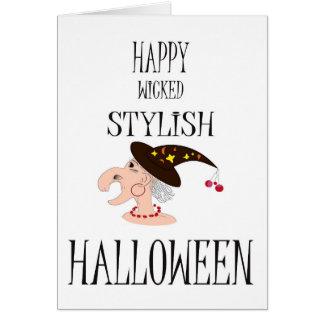 スタイルのハロウィンおもしろいなカード カード