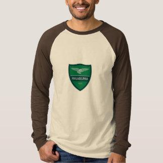 スタイルのフィラデルヒィアの大きくイタリアンなフットボールEurologo Tシャツ