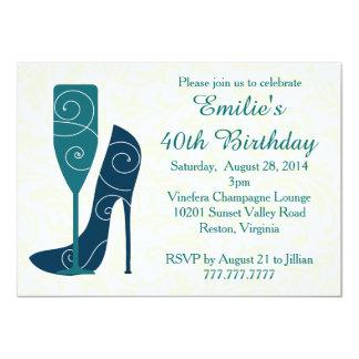 スタイルのワインのシャンペンの誕生日の招待状の一口 11.4 X 15.9 インビテーションカード