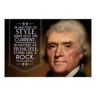 スタイルの問題のトーマス・ジェファーソンの引用文 ポスター