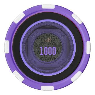 スタイルを作られたフレームのダマスク織のモノグラムのなポーカー用のチップ ポーカーチップ