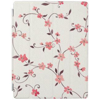 スタイルを作られた春が付いている水彩画の継ぎ目が無いパターン iPadスマートカバー