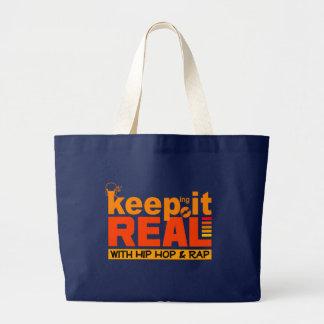 スタイルを選ぶためにそれをヒップホップのバッグと実質-保って下さい ラージトートバッグ