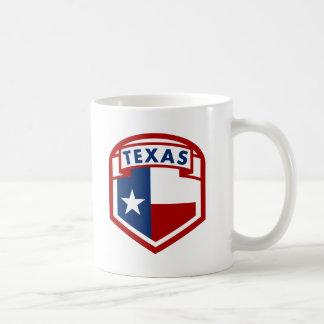 スタイルテキサス州の旗の紋章付き外衣 コーヒーマグカップ