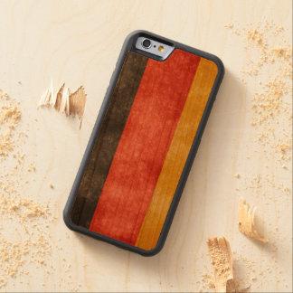 スタイルドイツレトロの旗の木の電話箱 CarvedチェリーiPhone 6バンパーケース