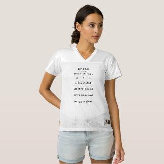 """""""スタイル""""の女性のオーガスタのレプリカのフットボールジャージー レディースフットボールジャージー"""